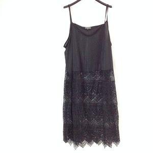 Selection By Ulla Popken Women's Slip Dress Black